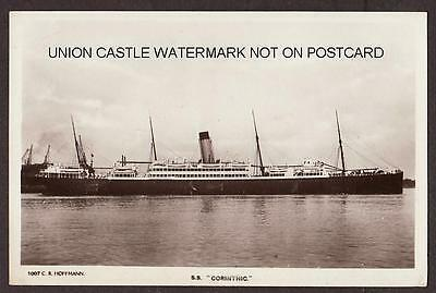 Real Photo Postcard White Star Line Rms Corinthic Built 1902