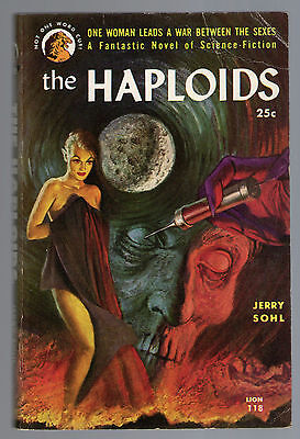 The Haploids, Jerry Sohl, Lion Books First 1955 Science Fiction Paperback