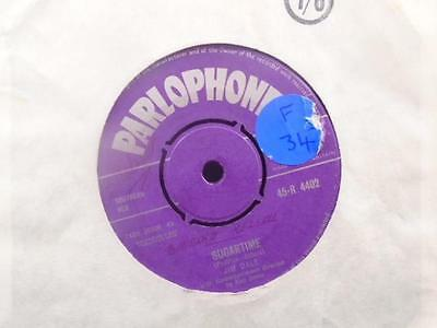 "JIM DALE "" SUGARTIME "" Or.UK PURPLE PARLOPHONE "" EX COND. [LABEL DAMAGE ]"