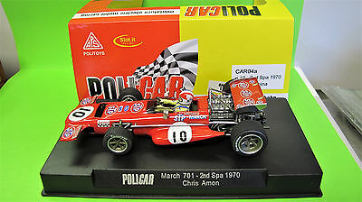 POLICAR  1:32 March 701 #10   2nd Spa 1970 - Chris Amon   Ref.  CAR04a