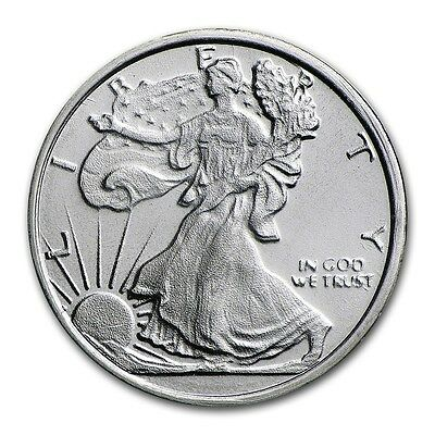 1/4 oz Walking Liberty Lady Silber Eagle Design Half Dollar 999 Silver AG