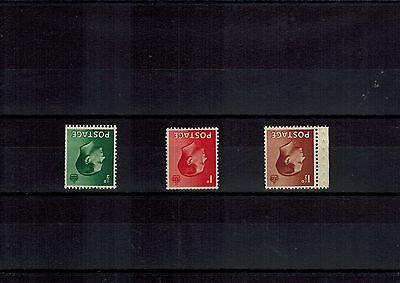 Gb Edviii Set Of 3 Stamps With Inverted Watermarks Mint Never Hinged Mnh