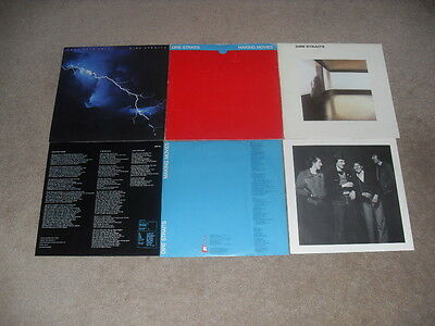 DIRE STRAITS - MAKING MOVIES, LOVE OVER GOLD & DIRE STRAITS - 3 x LP RECORDS