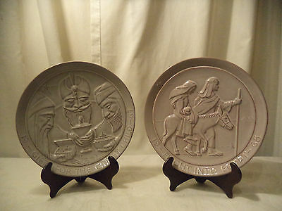 Lot of 2 Vintage Frankoma Collector Plates 1967 & 1968