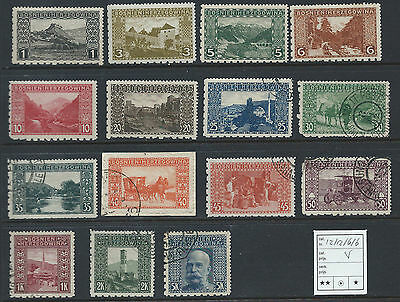 Bosnia 1906 landscapes compound perforation 12:12:6:6 complete set 11/D3