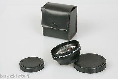 52mm Threaded SCREW ON Tele Conversion Lens X1.5 JAPAN For Front of Lens CLEAN