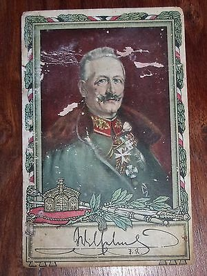 Autografo Su Cartolina Re Guglielmo Ii Di Germania - Signed Kaiser Whilhelm Ii