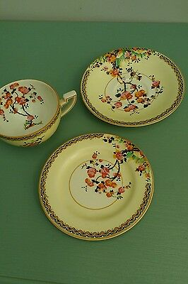 Crown Ducal trio - teacup saucer and plate