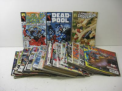 Large Lot of Marvel Comics, Spider-Man, Peter Parker, Fantastic Four, Deadpool +