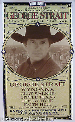 George Strait 1999 2nd Country Music Festival Poster Original