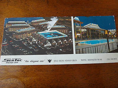 Vintage Postcard: SeaTac Motor Inn - Seattle, Washington - Oversize 1970s