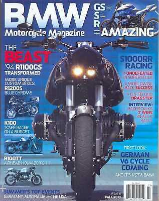 BMW Motorcycle  No.8 Fall 2010 (NEW COPY)*Post included to UK/Europe/USA