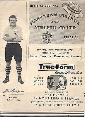 LUTON TOWN v DONCASTER ROVERS 1954-55  programme