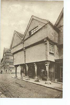 Herefordshire printed view by Tilley & Son of the Upper Cross, Ledbury