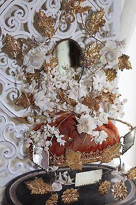 A Superb Antique French Marriage Boudoir Display Stand Interior Porcelain Flower
