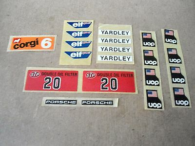 Corgi no.151/155/158/159/358 & 397 F1 etc Race Cars Original Various Stickers