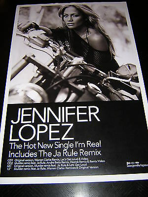 Original Jennifer Lopez Promotional Poster - I'm Real