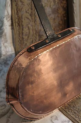 Superb Antique French Copper Fish Poaching Frying Pan Skillet Artisan Hand Made