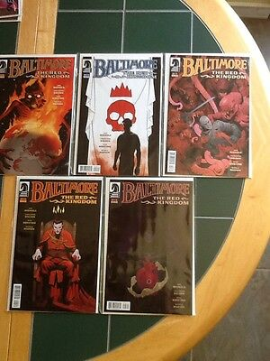 Complete Set Of 5 Baltimore The Red Kingdom Dark Horse Comics