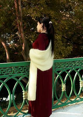 Gorgeous Uzbek Handmade & Homemade Natural Woolen Shawl Long Scarf M302