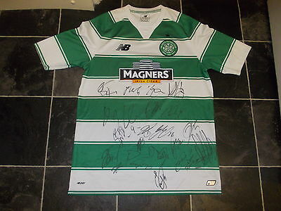 Celtic Signed Football Shirt Coa X 20 Brown Lustig Toure Dembele 2017 Champions