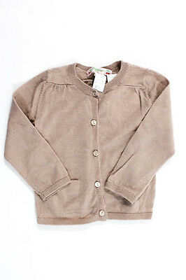 Bonpoint Girls Pink Wool Long Sleeve Button Close Cardigan Size 18 Months