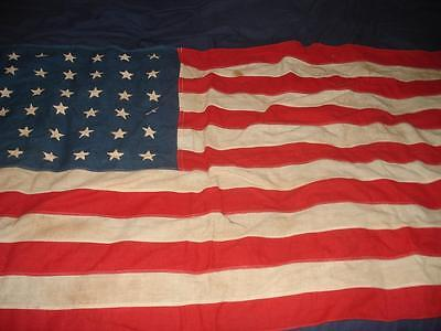 Vintage 48 Star American Flag Cotton Wool 55'' X 30'' Large