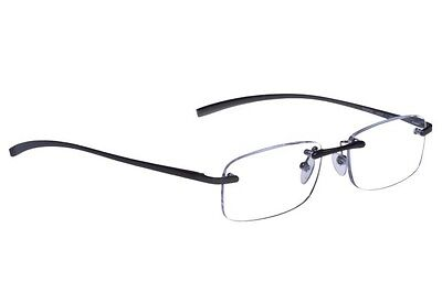 foster grant Rimless reading glasses Le Carre +1.75. Free Case,