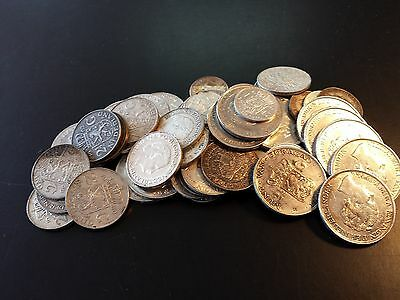 Netherlands: 1 and 2 1/2 Guilder  .720 Silver Collection (Lot of 48 Coins)