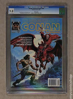 Savage Sword of Conan (1974 Magazine) #206 CGC 9.8 1012280010