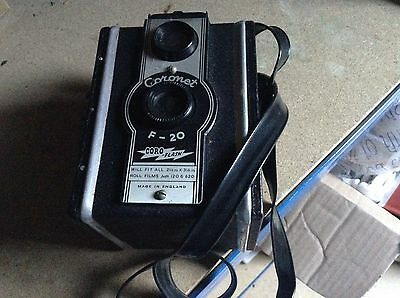 Vintage Coronet F-20 Box Camera ,collectable , Stage Prop.?