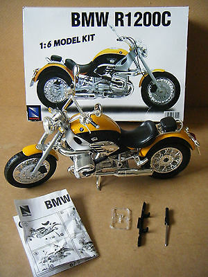 "Newray ""BMW R1200C"" motorcycle model kit 1:6 scale. Assembled."