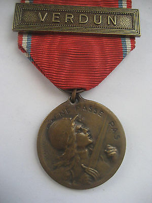 Foreign Legion /french Forces  Ww1 Medal For Verdun.'vernier'