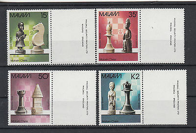 MALAWI. 1988 Chess set of 4 stamps with Imprints. SG780/783. MUH/MNH.Going cheap