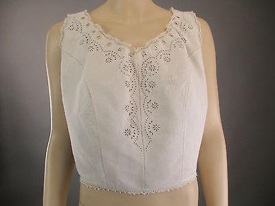 Antique Victorian CivilWar Era Corset Cover Camisole