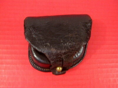 Civil War Era US Army Percussion Revolver Brown Leather Cap Pouch - L.S. Baker