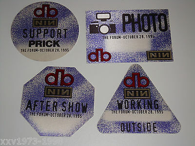 DAVID BOWIE NINE INCH NAILS 4 BACKSTAGE TICKET PASSES NIN pass Outside Tour USA