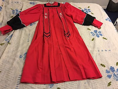 Red Choir Robe With Black Trim