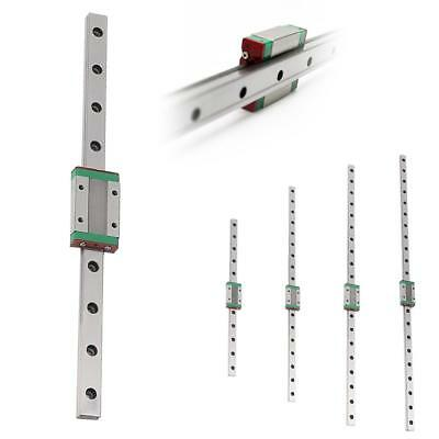 Linear Guide Rail Way Slide + MGN12H Carriage Block for 3D Printer 5 Size