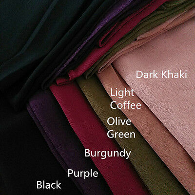 High Quality Womens Chiffon Plain Color Scarf Wrap Shalws Maxi Shayla Hijab New