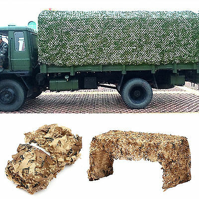 2x3M Woodland leaves Camouflage Camo Army HideCover Net Camping Military Hunting