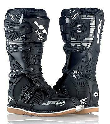 Size Us 10.5 / Eu 44 - 2015 Jt Racing Mx Podium Boots - Black