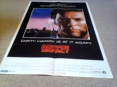 SUDDEN IMPACT RAIDERS OF THE LOST ARK RE JAPAN FILM POSTER 1984 Clint Eastwood