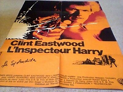 Clint Eastwood L'Inspecteur Harry Orig French Film Poster 1971 Dirty Harry