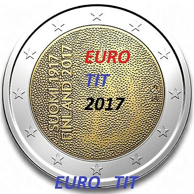 2 €   FINLANDE  1  X  COMMEMORATIVE  NOUVEAU   INDEPENDANCE  2017  /  disponible