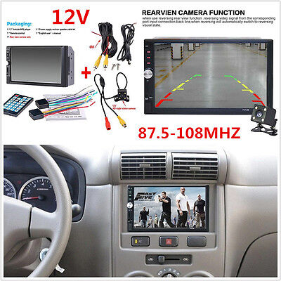 7 inch Car 12V Touch Screen Radio Audio Stereo MP5 Player 2Din USB FM BT