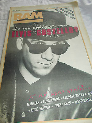 Elvis Costello - Ram -Oz Music Mag -1984-#237 - Madness-Eurogliders-Celibate Rif