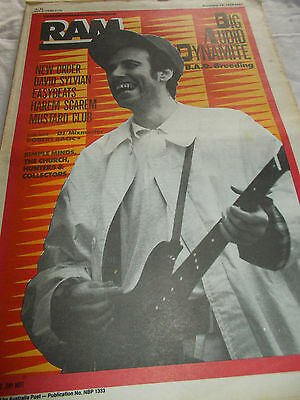 Big Audio Dynamite / Clash - Ram -Oz Music Mag -1986-#297 - New Order-Easybeats