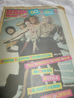 Go-Go's - Ram-Oz Music Mag -1982 - Madness - Motels - Gil Scott-Heron