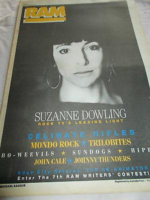 Suzanne Dowling - Ram -Oz Music Mag -1986-#294 - Celibate Rifles-Mondo Rock